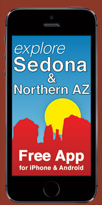 Explore Sedona app for iPhone and Android promo